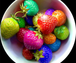 strawberry, food, and colorful image