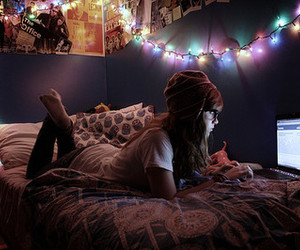 girl, light, and facebook image