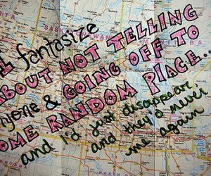 map, quote, and text image