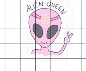 alien, background, and infinite image