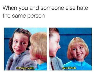 funny, best friend, and hate image