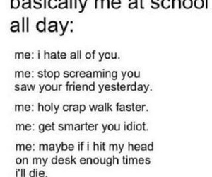 school, funny, and hate image