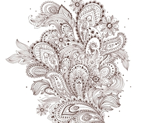floral, flower, and paisley image