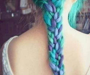 blue, teal, and braid image