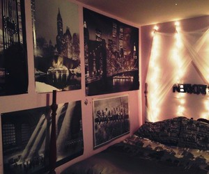 bed, new york, and room image