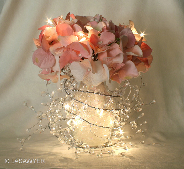 We Heart It & Pretty reception centerpiece - made with silk flowers an ...
