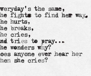 Lyrics, when she cries, and girl image