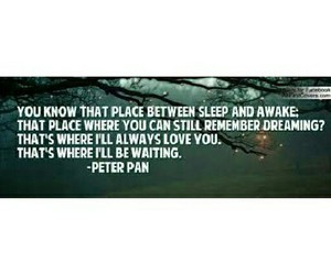 neverland, peter pan, and wendy darling image