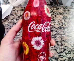 coca-cola, flowers, and cute image