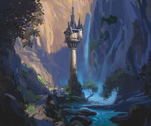 disney, tangled, and tower image