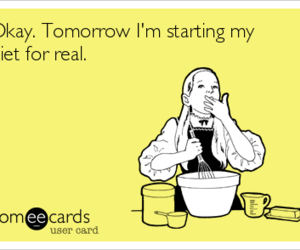 diet, ecard, and funny image