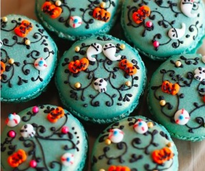 blue, ghosts, and macarons image