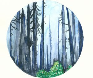 forest, art, and nature image
