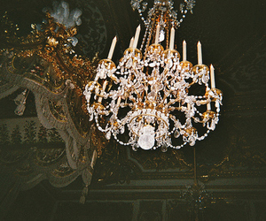 vintage, chandelier, and light image