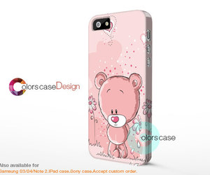 cute bear, iphone 4s case, and iphone 5s image