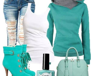 cloths, fashion, and green image