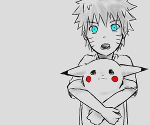 naruto, pikachu, and pokemon image