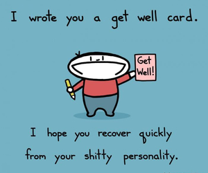 funny, personality, and card image