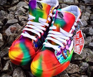 rainbow, shoes, and sneaker image