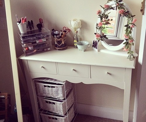 room, flowers, and girly image