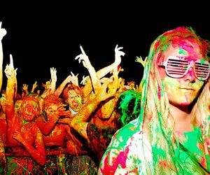 girl, paint, and party image