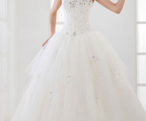 wedding dress, wedding, and dress image