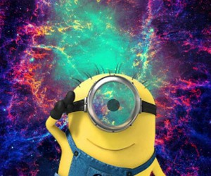 minions and galaxy image