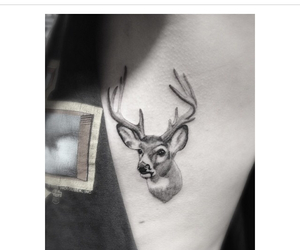 deer, fawn, and tattoo image