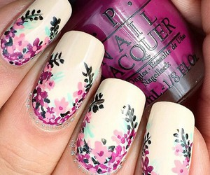 flores, flowers, and nail image