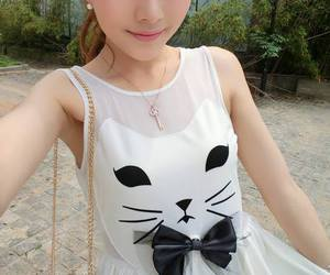 fashion, asian, and cat image