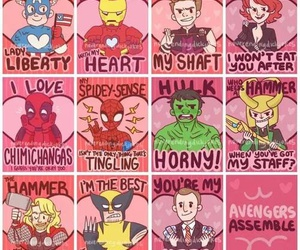 Avengers and valentine image