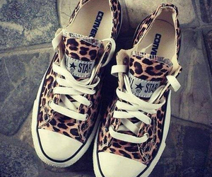shoes, converse, and leopard image