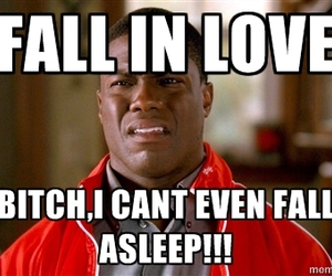 fall in love, kevin hart, and asleep image