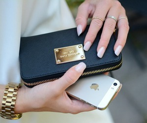 iphone, nails, and luxury image