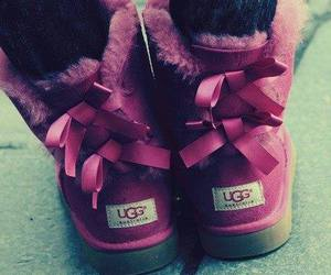 ugg, pink, and uggs image