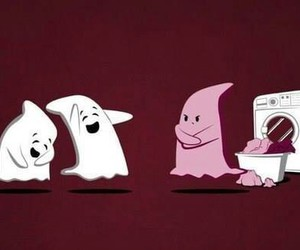 funny, ghost, and pink image