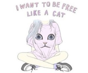 cat, free, and pastel image