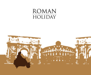 film, roman holiday, and italy image