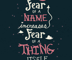 quote, cute, and fear of a name image