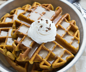 food and waffles image