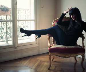 black, chair, and dress image