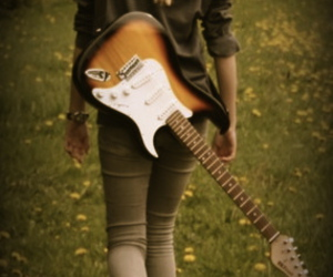 antique, converse, and guitar image