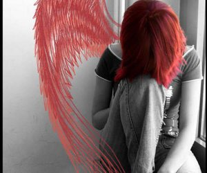 angel, red, and red hair image