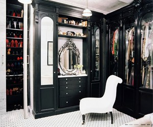 closet, black, and room image