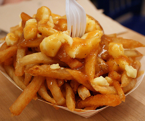 food, poutine, and fries image