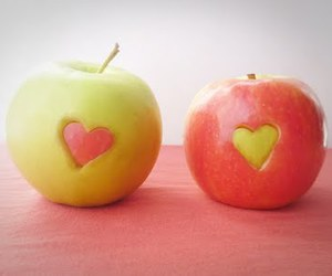 apple, heart, and fruit image