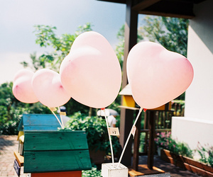 cute, balloons, and pink image