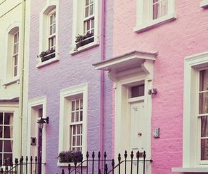 architecture, photo, and pink image