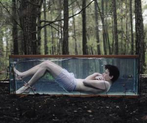 boy, cage, and water image