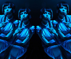 Alice Glass, blue, and Crystal Castles image